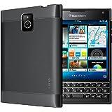 TUDIA Ultra Slim LITE TPU Bumper Protective Case for BlackBerry Passport (Black)