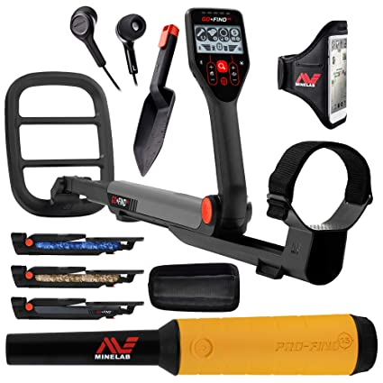 Amazon.com : Minelab GO-FIND 66 Metal Detector with PRO-FIND 15 Pinpointer & Holster : Garden & Outdoor