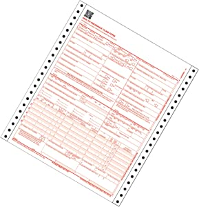 Adams CMS-1500 Health Insurance Claim Forms, 2-Part, Continuous, 9.5 x 11 Inches, 100 Sets per Pack (CMS1500CV)
