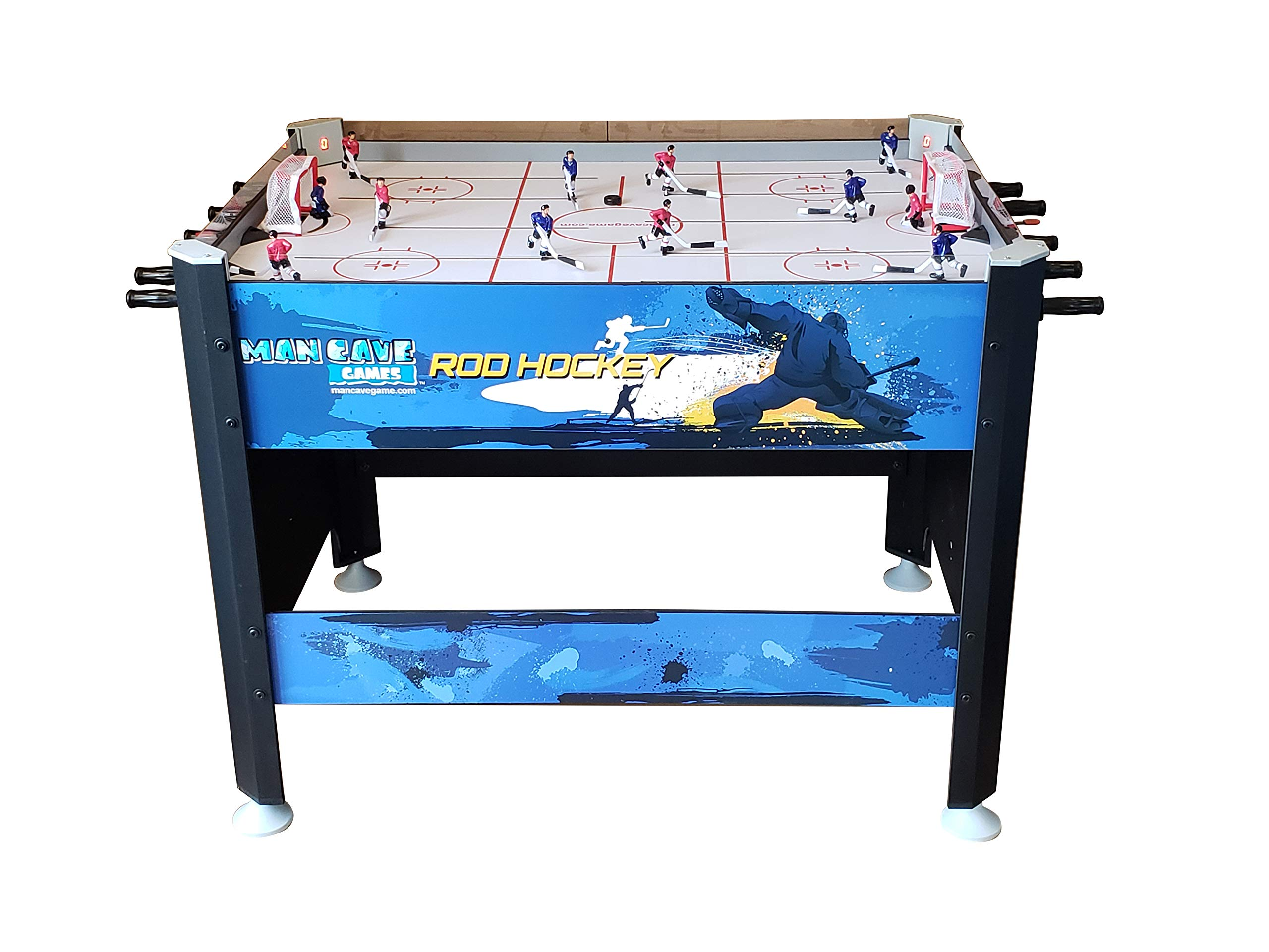ManCave Games 45'' Elite Rod Hockey Game. Fast paced Head-to-Head Bubble Hockey Style Action, Without The Dome! by ManCave Games