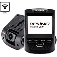 """Rexing V1 Wi-Fi Car Dash Cam 2.4"""" LCD FHD 1080p 170° Wide Angle Dashboard Camera Recorder with G-Sensor, WDR, Loop Recording, Supercapacitor, Mobile App"""