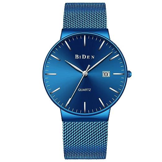 ... Inoxidable para Hombres Fecha Calendario Reloj de Cuarzo Analógico de Diseño Simple Relojes Gents de Lujo Negocio Clásico Vestir: Amazon.es: Relojes