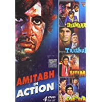 Amitabh in Action (Set of 4 DVDs- Deewar/Trishul/Hum/Geraftaar)