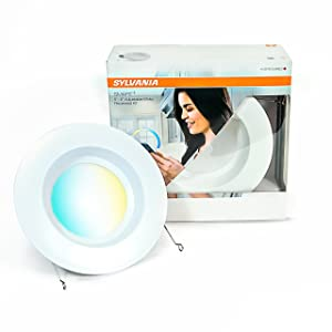 OSRAM 73742 SYLVANIA SMART+ ZigBee Adjustable White RT 5/6 Recessed Lighting Kit, Works with SmartThings and Amazon Echo Plus, Hub Needed for Amazon Alexa and Google Assistant