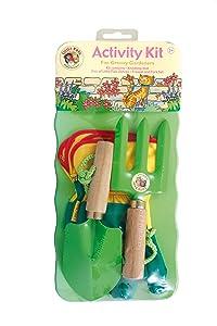 Tierra Garden 7-LP697 Little Pals Kids Garden Tool Activity Kit, Green