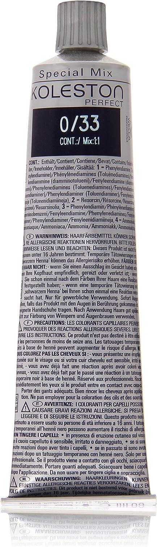 Wella Professionals Koleston - Tinte para cabello (60 ml), 0/33 dorado intenso