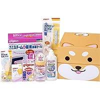【Amazon.co.jp限定】贝亲 Pigeon *实感 产准备套装(奶瓶、奶嘴S、奶瓶清洗剂、*盒、*剂、清洁刷)柴犬