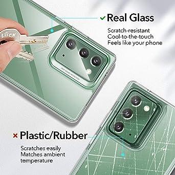Esr Klare Glas Hülle Für Samsung Galaxy Note 20 Transparente Panzerglas Rückseite Flexibler Tpu Rahmen Durchsichtig Klar Elektronik