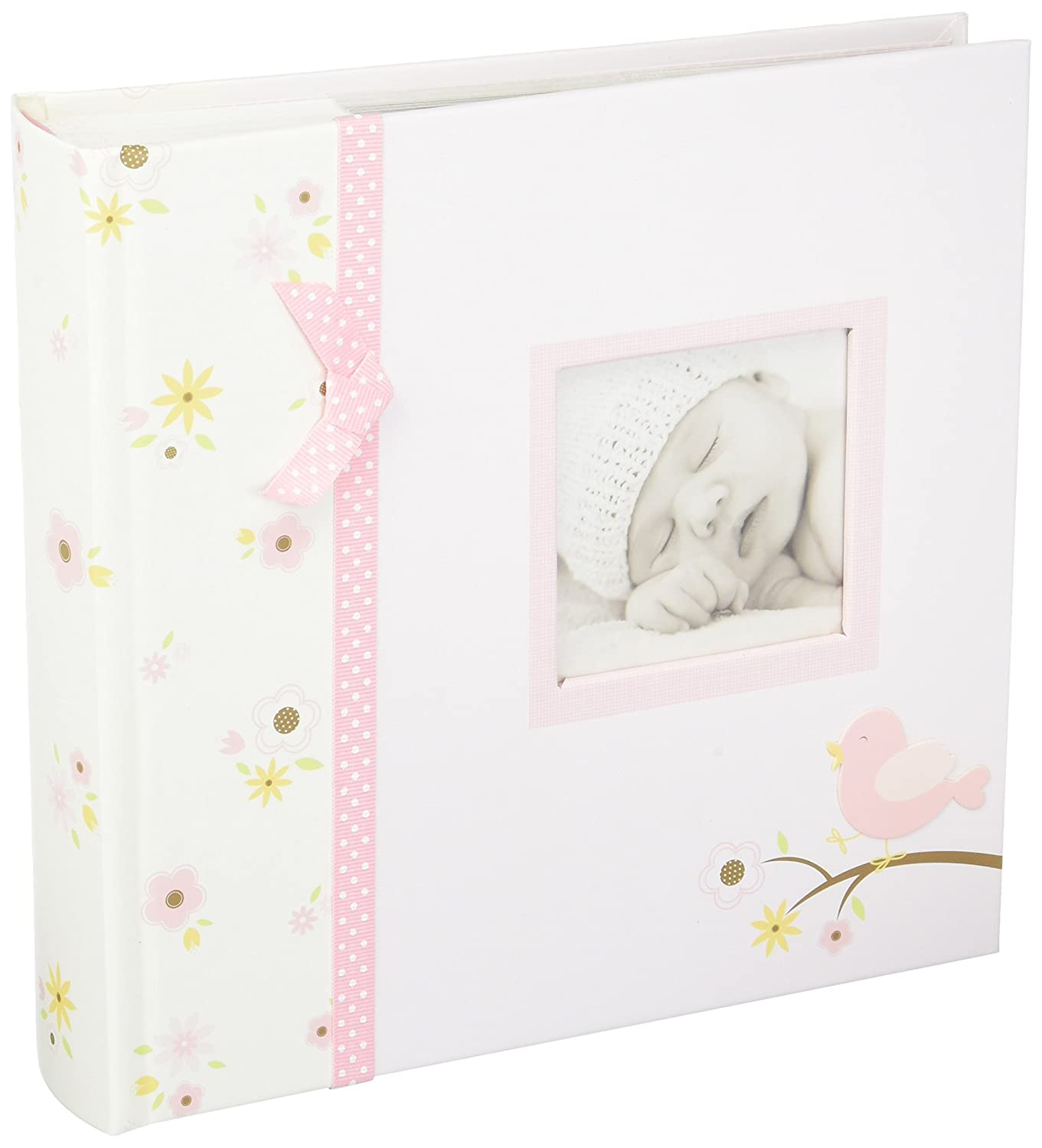 Lil Peach Baby Photo Album Holds 200 4 x 6 Pictures, Pink Bird 92162