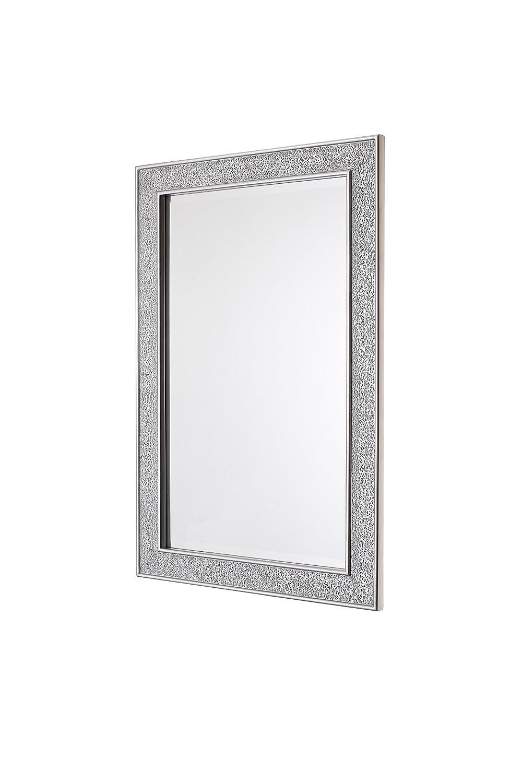 Specchio Mosaico - Argento - Legno - Grandi - 90 x 60 cm: Amazon ...