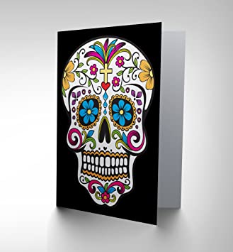 Decorative skull day of the dead greetings card cp1130 amazon decorative skull day of the dead greetings card cp1130 m4hsunfo
