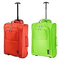 """Set di 2 21""""/ 55 cm 5 Ciudades Cabina approvato Mano bagaglio leggero sacchetti del carrello por Ryanair/Easyjet"""