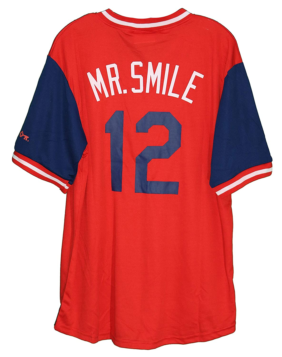new concept f331c 3331f Francisco Lindor Cleveland Indians Red Mr. Smile #12 Jersey ...