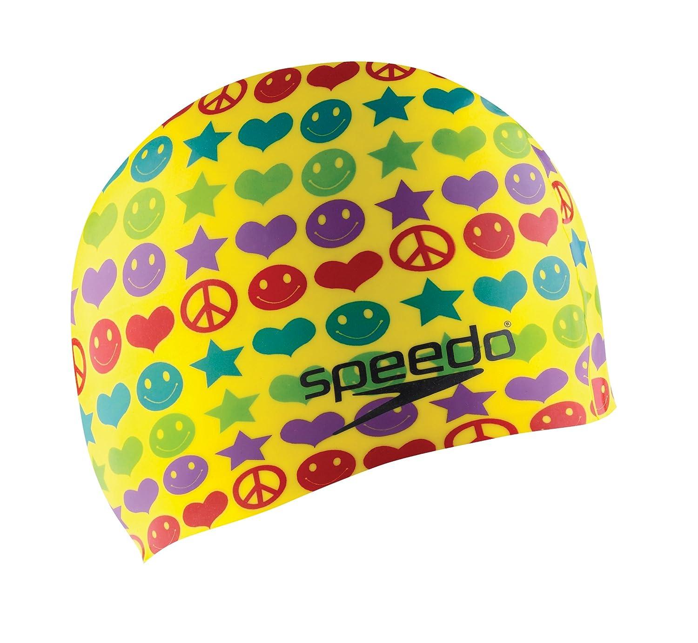 SpeedoシリコンJunior '記号' Swim Cap  イエロー B001M5TWZQ