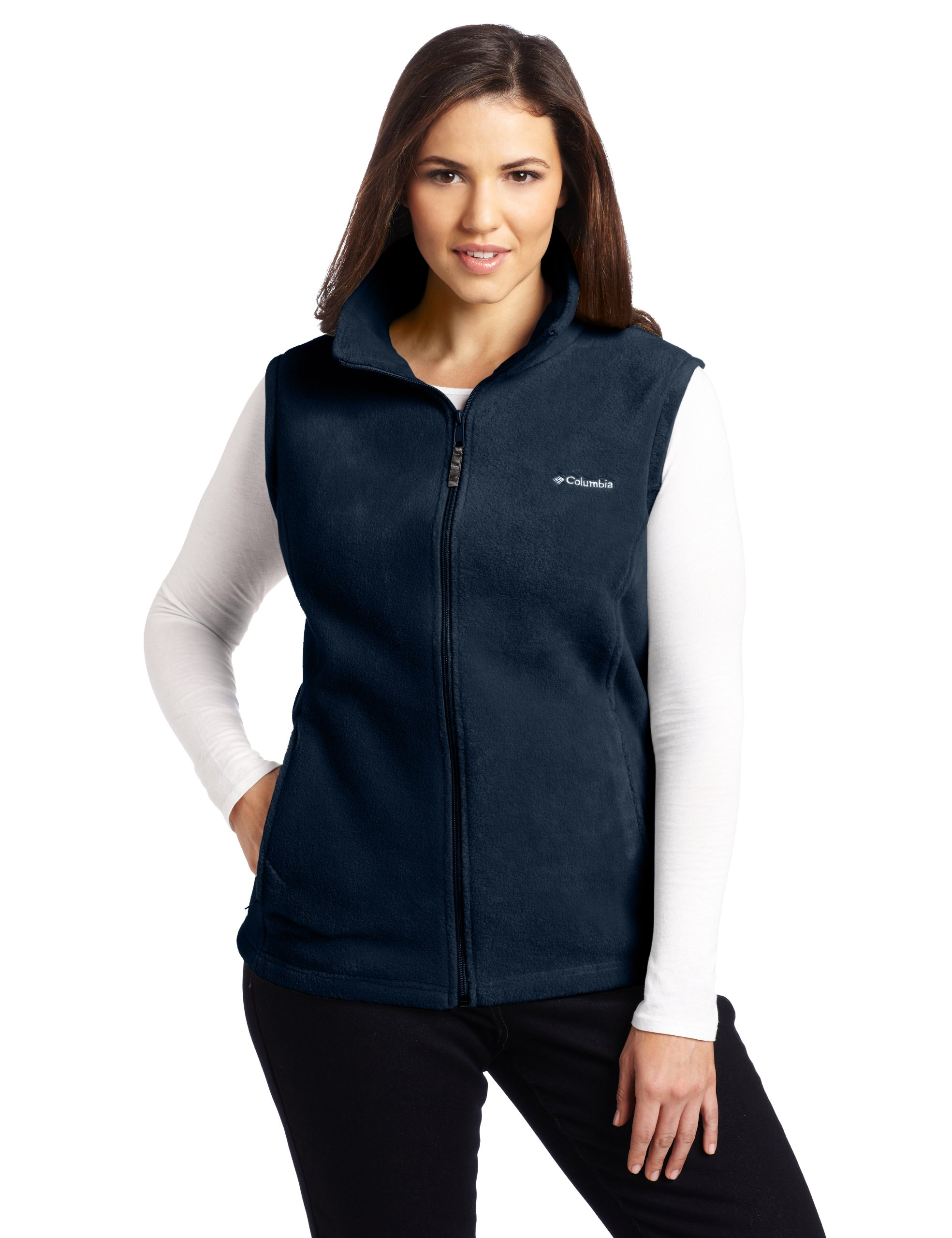 Columbia Women's Benton Springs Extended Vest, Columbia Navy, 3X