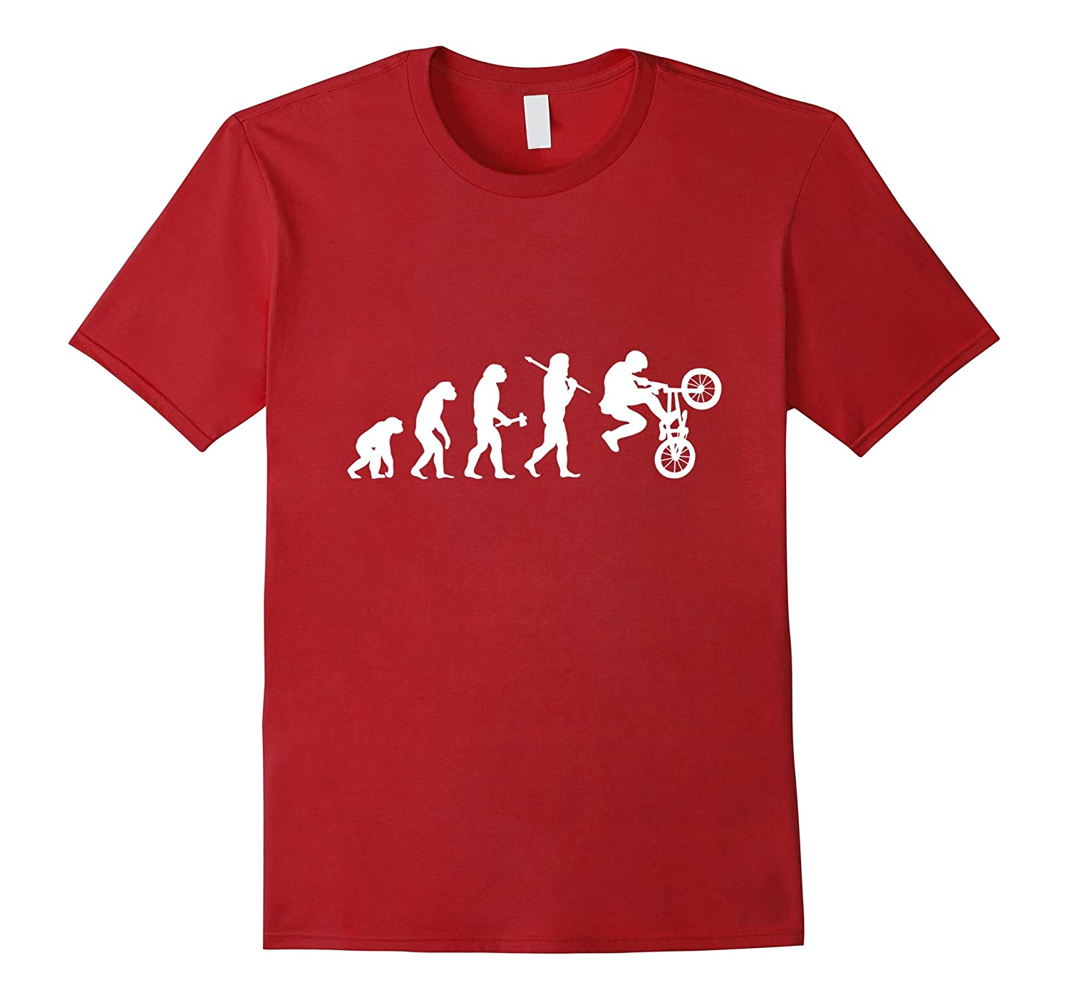 BMX Bicycle Motocross Evolution Funny T-Shirt-Vaci