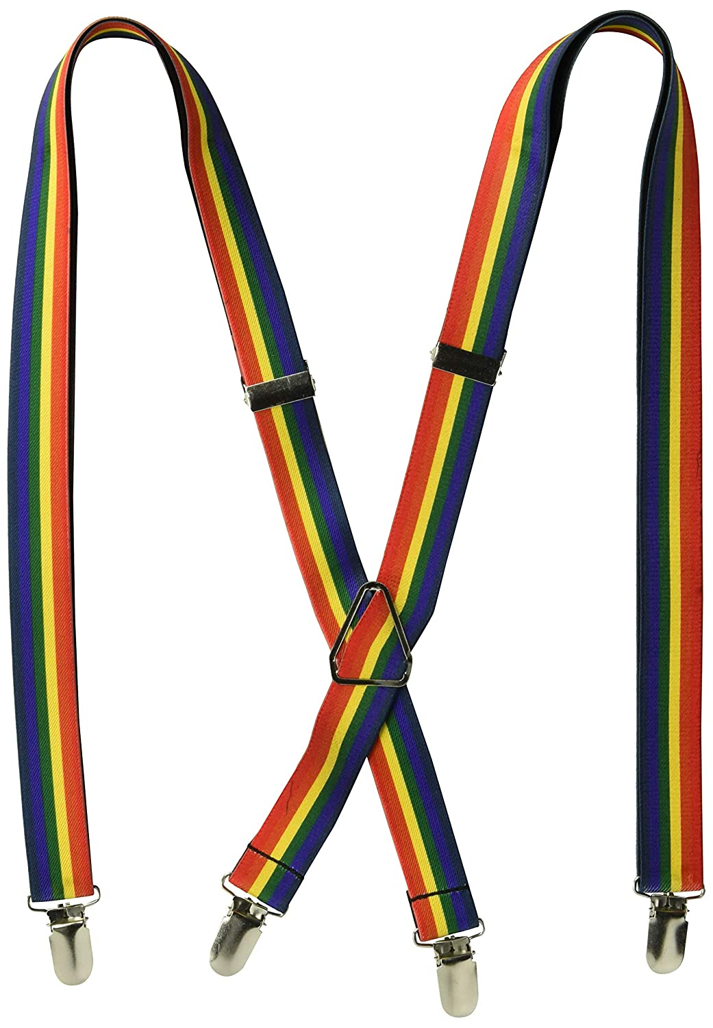 One Size Buckle-Down Mens Suspender-Rainbow