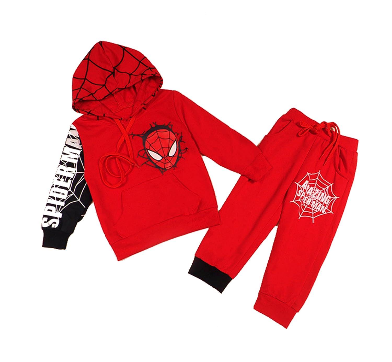 【お買い得!】 yimeiyibeiパーカーとパンツスーパーヒーローセット 1-2 Years Spiderman 1-2 B076DSRJQS Red Red B076DSRJQS, Smart Tap:746f28a7 --- a0267596.xsph.ru