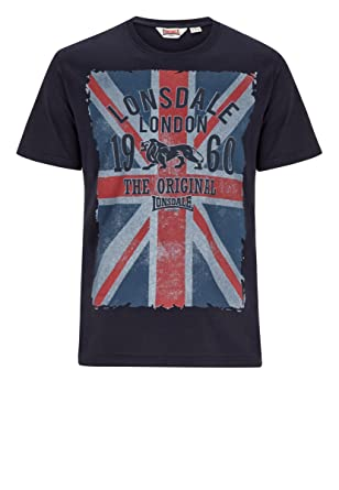 Lonsdale T-Shirt Glasgow, Size:L, Color dark navy