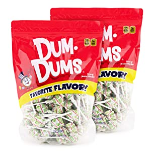Dum Dums Sour Apple 2-1 lb bags