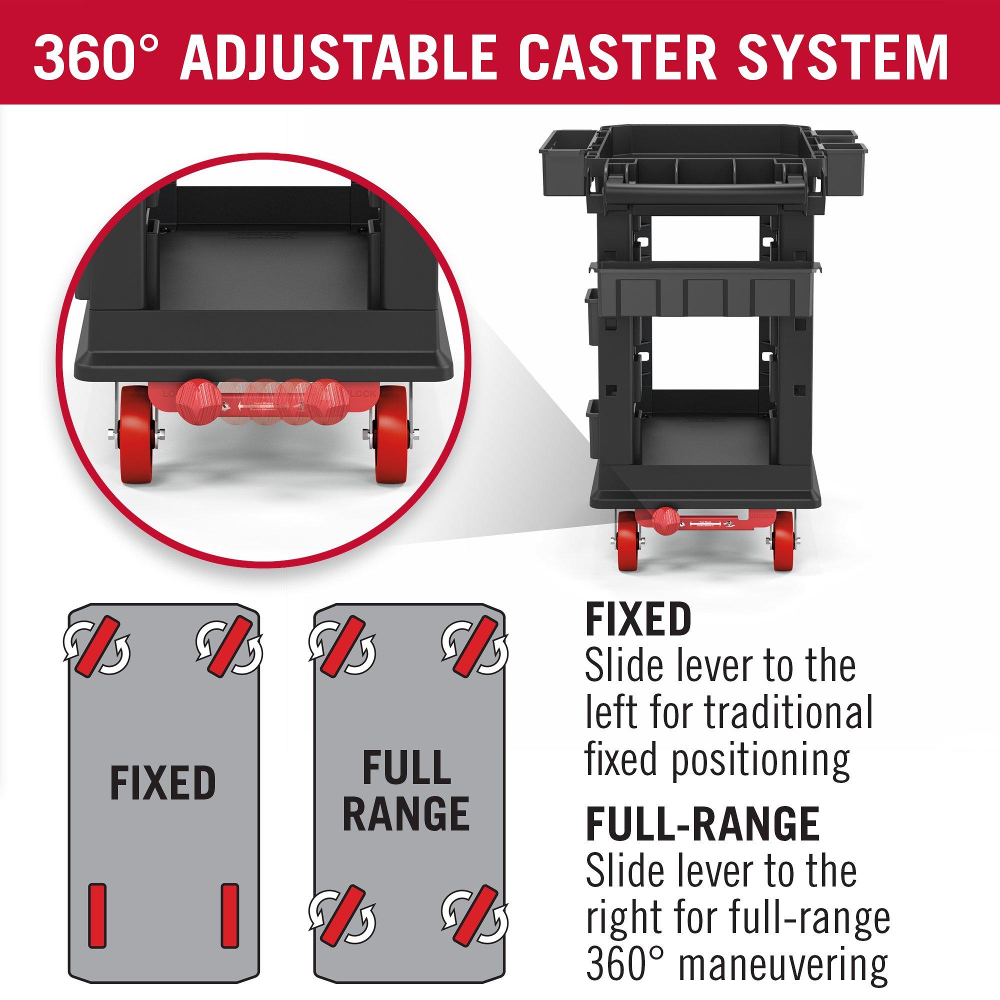 Suncast Commercial PUCHD1937 Utility Cart, Heavy Duty Plus 19 x 37, 500 Pounds Load Capacity, black by Suncast Commercial (Image #2)