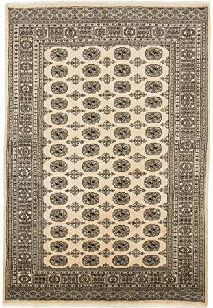 Carpetfine Pakistan Buchara 2ply Teppich 172x252 Beige Schwarz