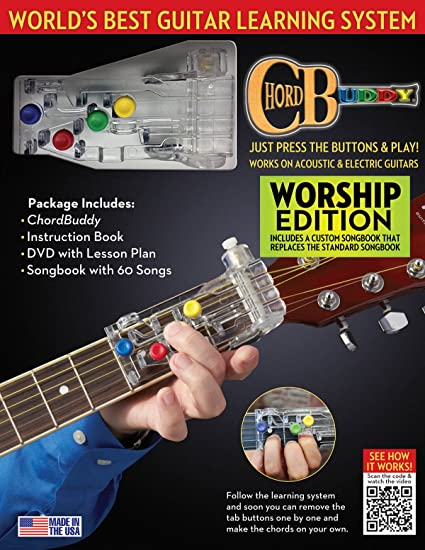 Amazon.com: Chord Buddy 124638 Guitar Learning System, Worship ...