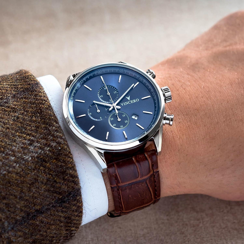 chrono-s Class blau Armbanduhr mit italienischem Marmor CaseBack