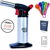 Cooking Torch For Creme Brulee By Pepe Nero: Culinary Torch - Kitchen Torch - Blow Torch - Professional Torch - Butane Lighter - Chef Torch - Creme Brulee Torch - Gifts: Measuring Spoons & Ebooks