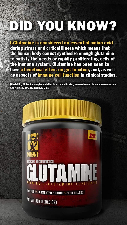 Mutant Core Series L-Glutamine Standard - 300 gr: Amazon.es ...