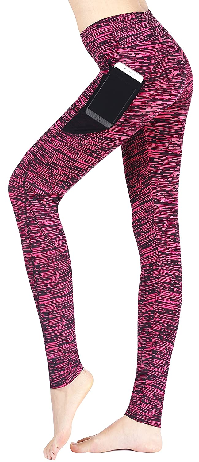 c2989a6f1e5ed Amazon.com: Neonysweets Women's Workout Leggings with Pocket Running Yoga  Pants Rose M: Clothing