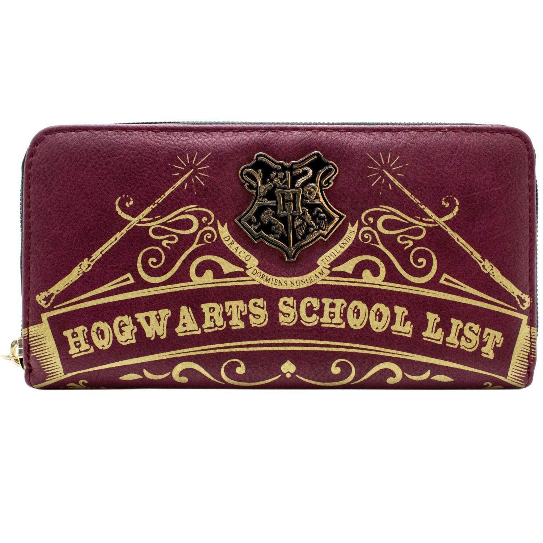 Cartera de Harry Potter Hogwarts Lista de Escuela Rojo