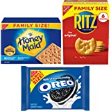 Oreo (ORMT9) RITZ And Honey Maid Snack Variety Pack(Family Size), Chocolate sandwich cookies, salted crackers and honey graha