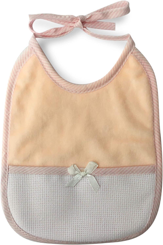 /Cordones y tela aida para bordar Nombre ROSA Panini tejidos babero babero suave chenilla con lazo/