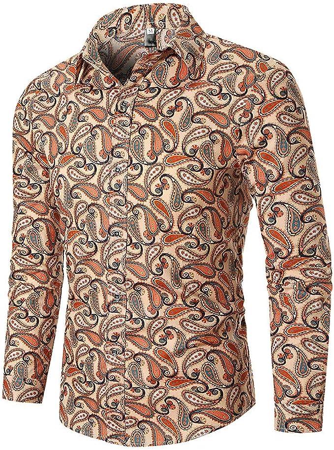 Moda! Camisas de impresión étnica para Hombre, Estilo otoñal ...