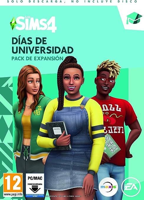 Los Sims 4 Días De Universidad La Caja Contiene Un Código De Descarga Origin Amazon Es Software