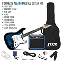 Deals on LyxPro 39 inch Electric Guitar Kit Bundle