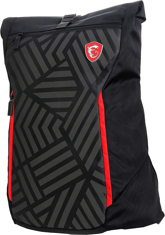 """MSI Mystic Knight 17"""" Backpack Black - Laptop Bags (Backpack, 17"""", Stretchable, Shoulder Strap, Black)"""