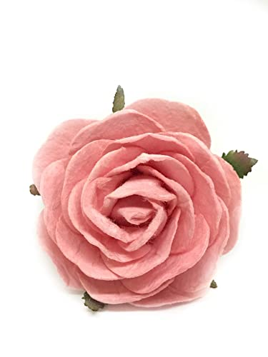 Amazon 25 pink roses artificial flowers mulberry paper 25quot pink roses artificial flowers mulberry paper flowers real looking roses for diy wedding bouquets mightylinksfo