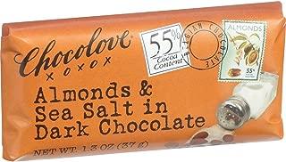 product image for Chocolove Xoxox Premium Chocolate Bar - Dark Chocolate - Almonds and Sea Salt - Mini 1.3 oz Bars - Case of 12