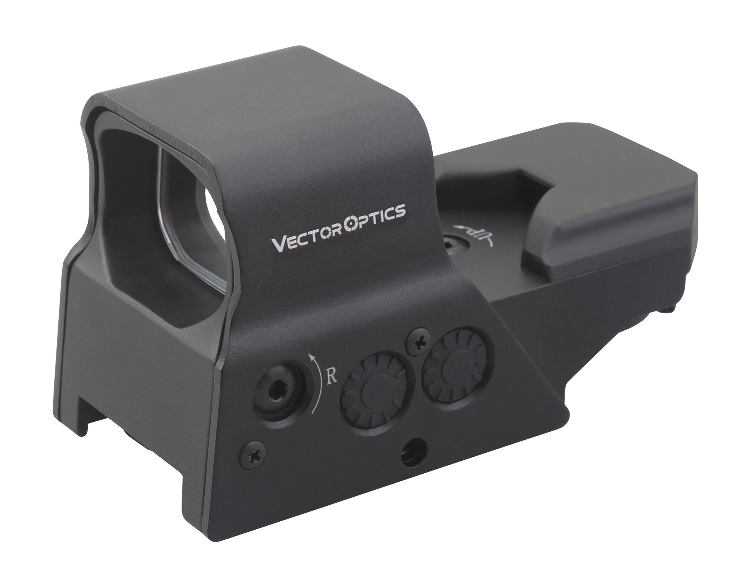 TAC Vector Optics Omega 1x Tactical Reflex 8 Reticle Red Dot Sight Scope US Design in High End Quality fit for AR15 AK74 Color Black
