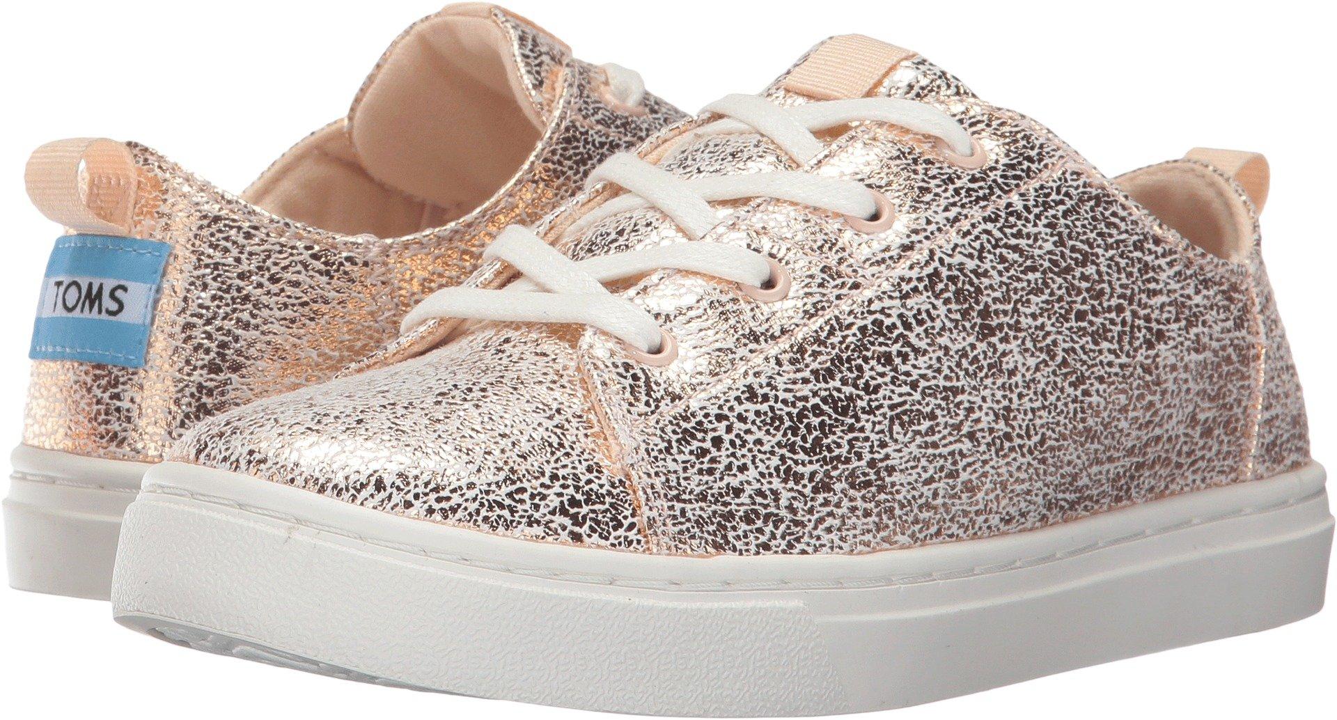Toms Youth Lenny Novelty Textile Sneaker, Size: 13.5 M US Little Kid, Color: Rose Gold Crackle Foil