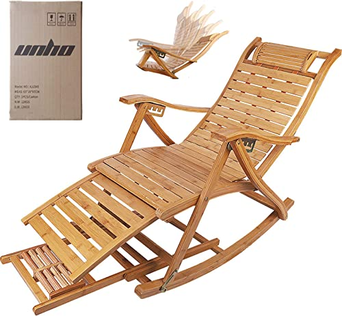 Cheap Bamboo Reclining Chair Adjustable Sun Patio Recliner Chairs Outdoor outdoor recliner for sale