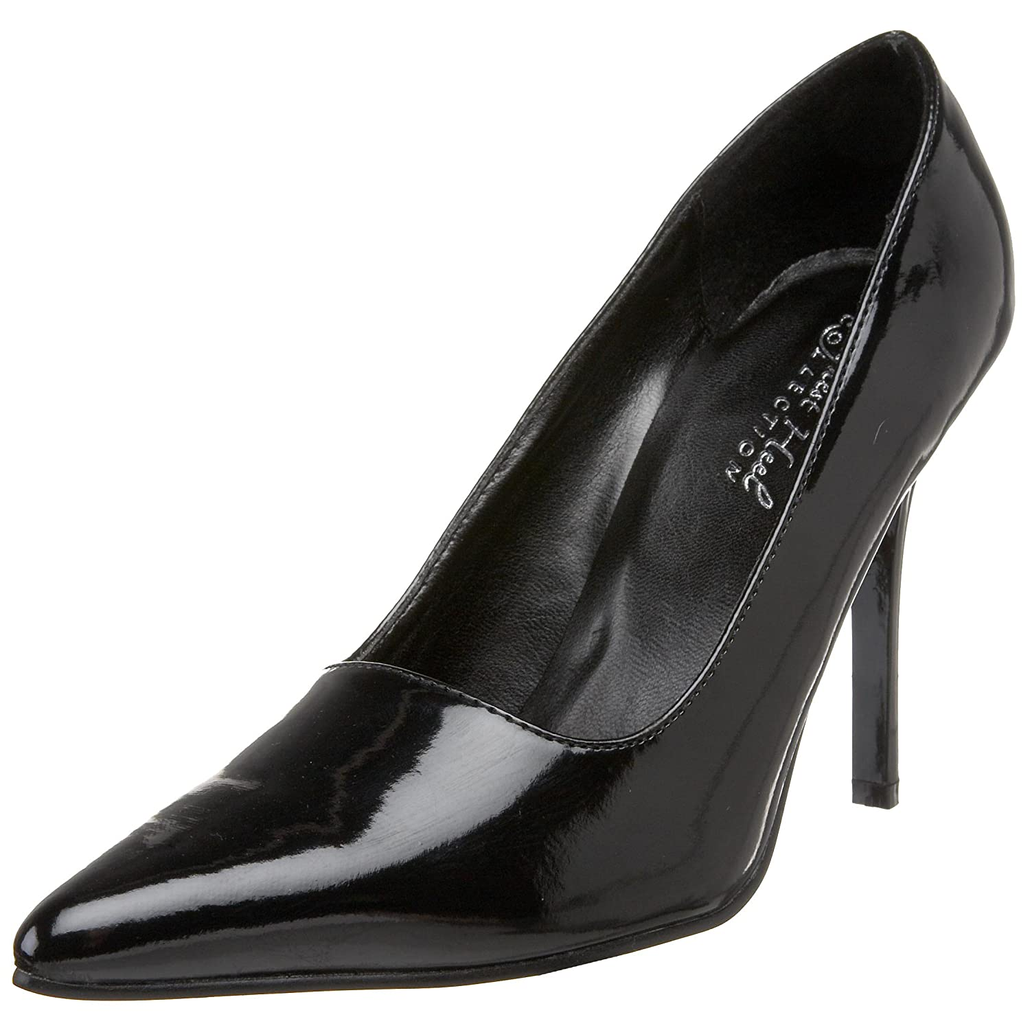 The Highest Heel Women's Classic Pump B000T86KUC 5 B(M) US|Black Patent