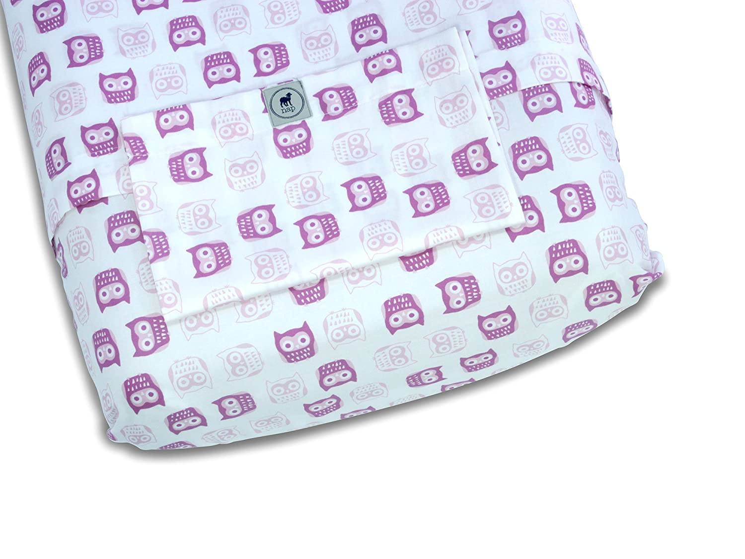 Kushies Percale Fitted Bassinet Sheet Pink S431PNK