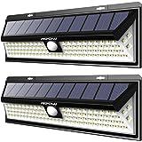 [2 Pezzi]Mpow 102 LED Lampada Solare, Luce da Parete Luminosa, 3 Modalità di Illuminazione Opzionale, Grande Pannello Solare, Mpow Luce Solare Impermeabile, Grande Luce Esterna per Giardino, Vialetto, Cantiere, Grage, Percorso e Patio