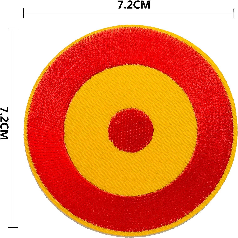 BANDERA DEL PARCHE BORDADO PARA PLANCHAR O COSER (Redondo Español 7.2cm): Amazon.es: Hogar