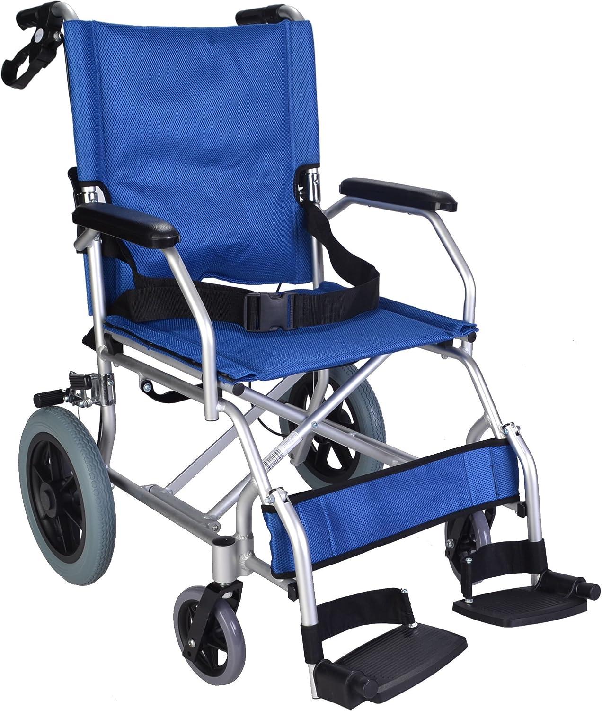 Leggero pieghevole sedia a rotelle transito compatta viaggi carrozzina Meno di 10 kg EC1863