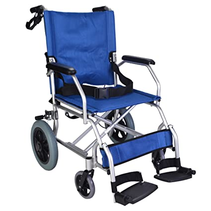 Elite Care EC1863 - Silla de rueda plegable, azul