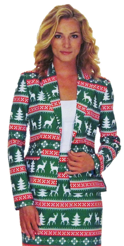 ab0a325730d Amazon.com  Suitmeister Fair Isle Women s Holiday Skirt Suit